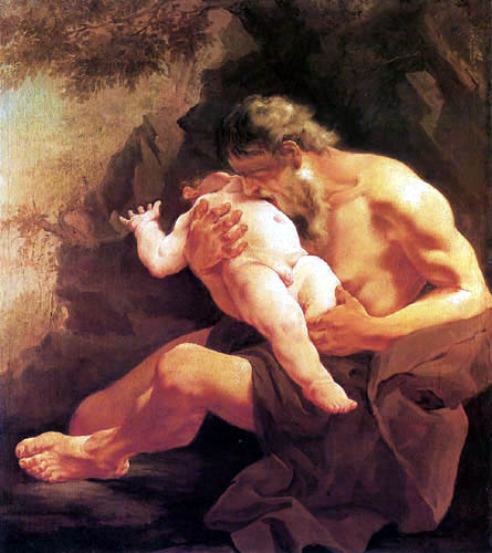 Giambattista (Giovanni Battista) Tiepolo - Saturn devouring his Son