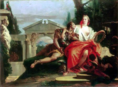 Giambattista (Giovanni Battista) Tiepolo - Rinaldo im Zauberbann Armidas