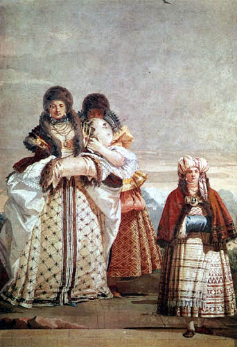 Giandomenico (Giovanni Domenico) Tiepolo - The winter walk