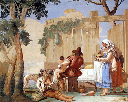 Giandomenico (Giovanni Domenico) Tiepolo - Farmers meal