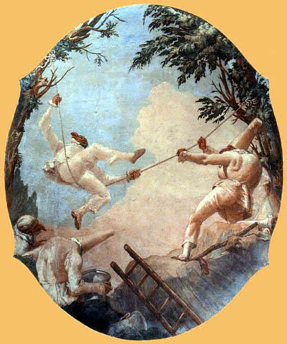 Giandomenico (Giovanni Domenico) Tiepolo - Schaukelde Akrobaten