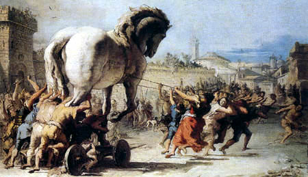 Giandomenico (Giovanni Domenico) Tiepolo - The Trojan Horse