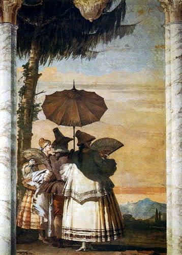 Giandomenico (Giovanni Domenico) Tiepolo - Sommerlicher Spaziergang