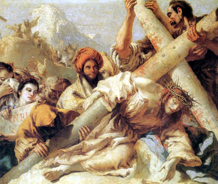 Giandomenico (Giovanni Domenico) Tiepolo - Fall of Christ in the way of  Calvary