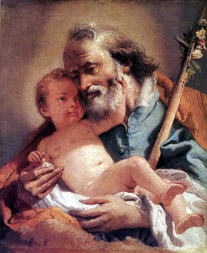 Giandomenico (Giovanni Domenico) Tiepolo - Saint Joseph with the Infant Jesus