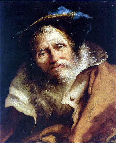 Giandomenico (Giovanni Domenico) Tiepolo - Head of a Philosopher