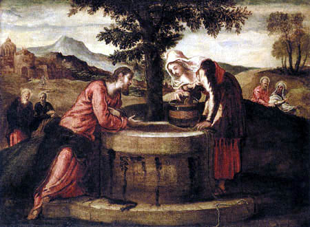Domenico Robusti Tintoretto - Christ and the Samaritan woman