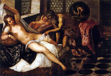 Tintoretto (Jacopo Robusti) - Vulkan überrascht Venus und Mars