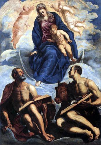 Tintoretto (Jacopo Robusti) - Maria mit dem Kind