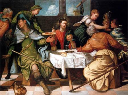 Tintoretto (Jacopo Robusti) - Christus in Emmaus