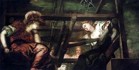 Tintoretto (Jacopo Robusti) - Athena und Arachne