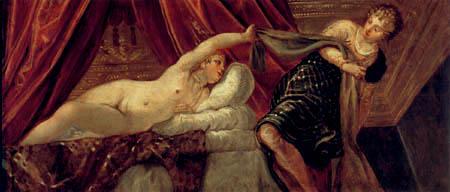 Tintoretto (Jacopo Robusti) - Joseph und das Weib des Potiphar