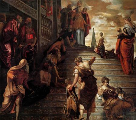 Tintoretto (Jacopo Robusti) - Der Tempelgang Mariä