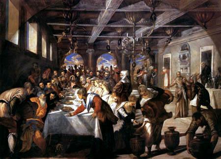 Tintoretto (Jacopo Robusti) - Bodas de Caná