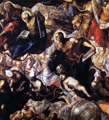 Tintoretto (Jacopo Robusti) - Das Paradies, Detail