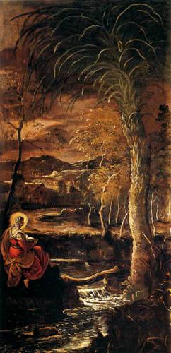 Tintoretto (Jacopo Robusti) - Die hl. Maria von Ägypten