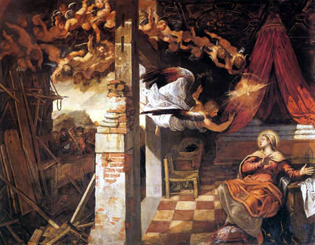 Tintoretto (Jacopo Robusti) - Verkündigung