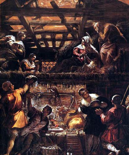 Tintoretto (Jacopo Robusti) - Die Anbetung der Hirten