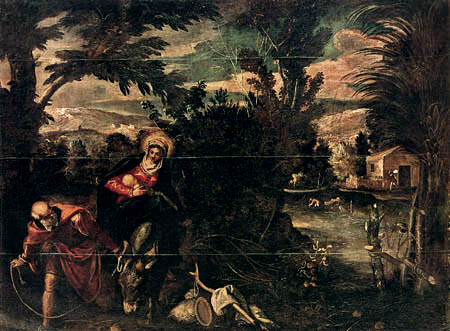 Tintoretto (Jacopo Robusti) - Flucht nach Ägypten