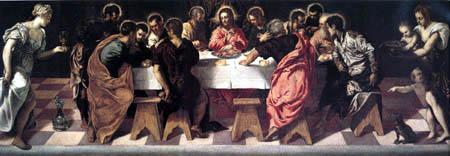 Tintoretto (Jacopo Robusti) - Das Abendmahl