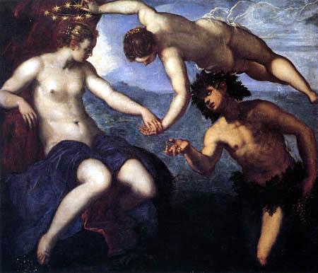 Tintoretto (Jacopo Robusti) - Ariane, Venus und Bacchus