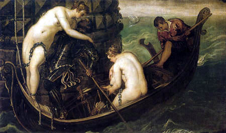 Tintoretto (Jacopo Robusti) - Die Rettung der Arsinoe