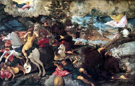 Tintoretto (Jacopo Robusti) - Bekehrung von Saulus