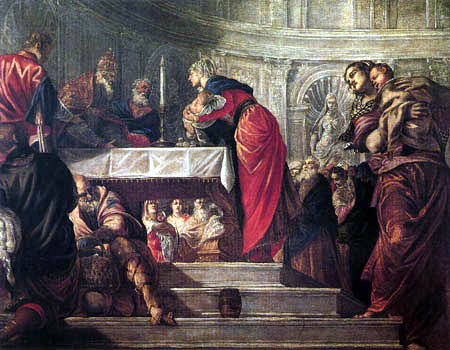 Tintoretto (Jacopo Robusti) - Darbringung Jesu im Tempel
