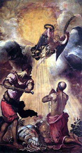 Tintoretto (Jacopo Robusti) - Die Enthauptung des Hl. Paul