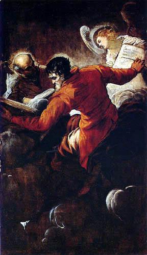 Tintoretto (Jacopo Robusti) - Die Evangelisten Lukas und Matthäus