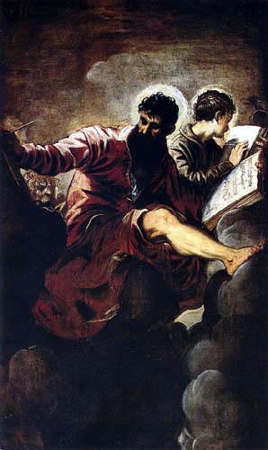 Tintoretto (Jacopo Robusti) - Die Evangelisten Markus und Johannes
