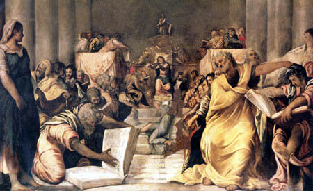Tintoretto (Jacopo Robusti) - Dispute of Jesus in the temple