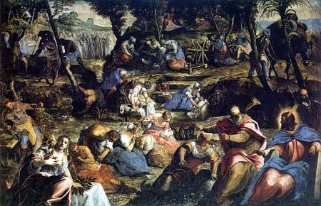 Tintoretto (Jacopo Robusti) - Die Israeliten in der Wüste