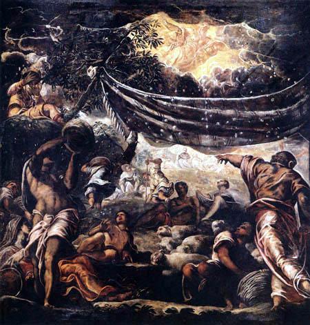 Tintoretto (Jacopo Robusti) - Das Einsammeln des Mannas