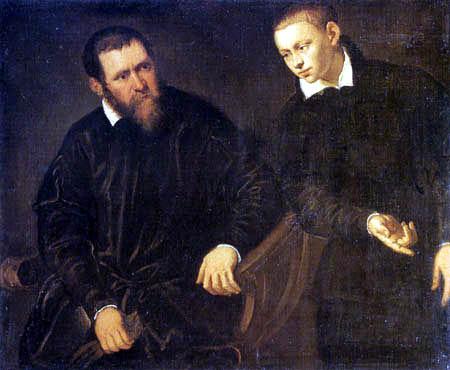 Tintoretto (Jacopo Robusti) - Männliches Doppelbildnis