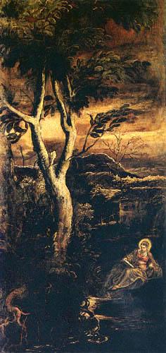 Tintoretto (Jacopo Robusti) - Maria Magdalena, lesend