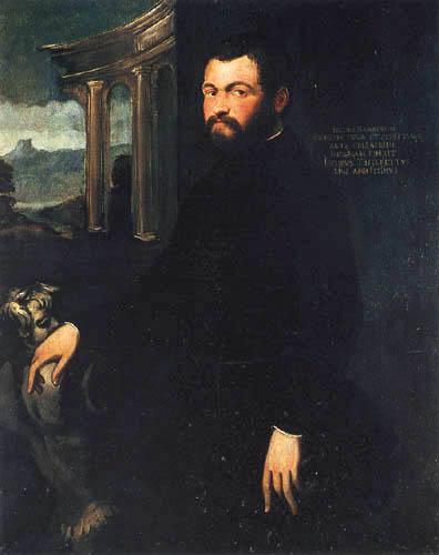 Tintoretto (Jacopo Robusti) - Portrait von Jacopo Sansovino