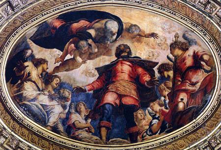 Tintoretto (Jacopo Robusti) - San Rocco in gloria