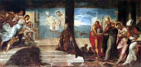 Tintoretto (Jacopo Robusti) - Der Besuch des Dogen Alvise Mocenigo, Skizze