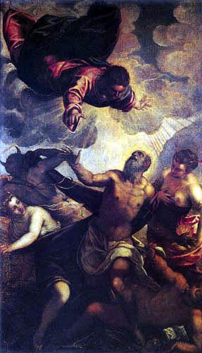 Tintoretto (Jacopo Robusti) - Die Versuchung des hl. Antonius