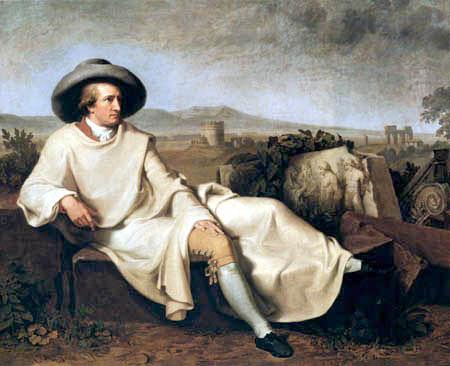J. Heinrich Wilhelm Tischbein - Goethe in the Campagna di Roma
