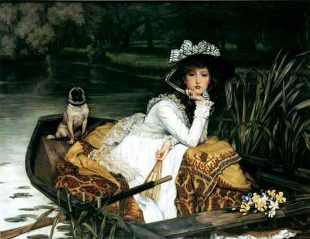 James (Jacques-Joseph) Tissot - Junge Frau in einem Boot
