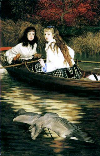 James (Jacques-Joseph) Tissot - A heron on the Thames