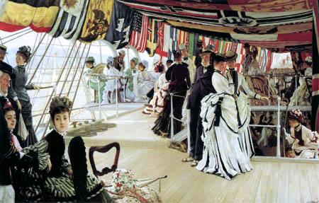 James (Jacques-Joseph) Tissot - The Ball at deck