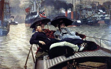 James (Jacques-Joseph) Tissot - Auf der Themse