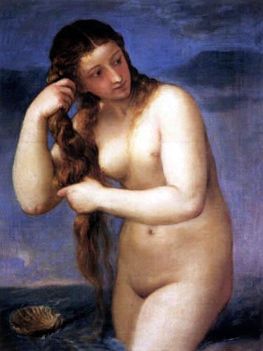 Titian (Tiziano Vecellio) - Venus Anadyomene