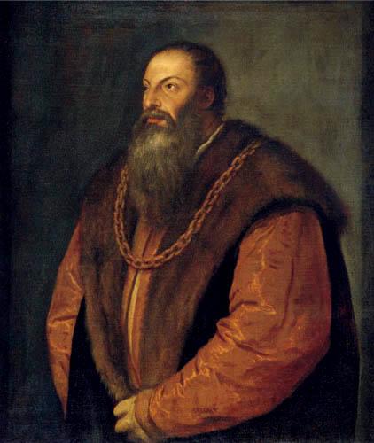 Tizian (Tiziano Vecellio) - Bildnis Pietro Aretino