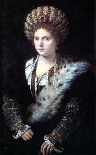 Tizian (Tiziano Vecellio) - Bildnis der Isabella d´Este