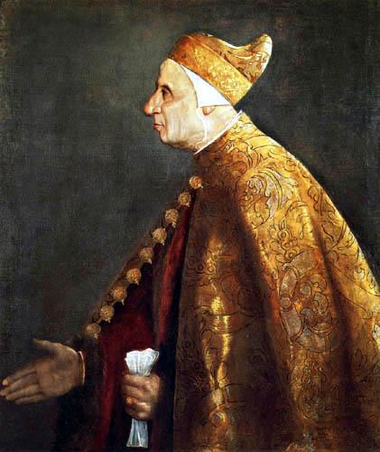 Tizian (Tiziano Vecellio) - Der Doge Niccolò Marcello