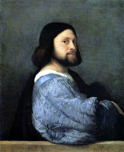 Tizian (Tiziano Vecellio) - Bildnis eines Mannes